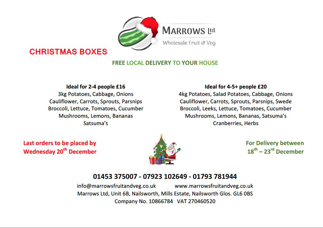 Christmas Vegetable Box Offer